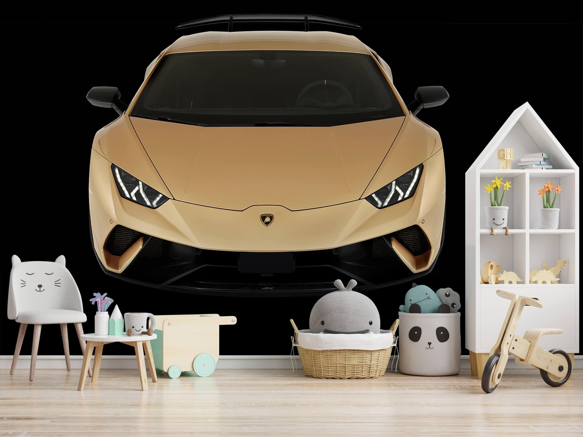 Wallpaper Lamborghini Huracán - Front from above, black 4