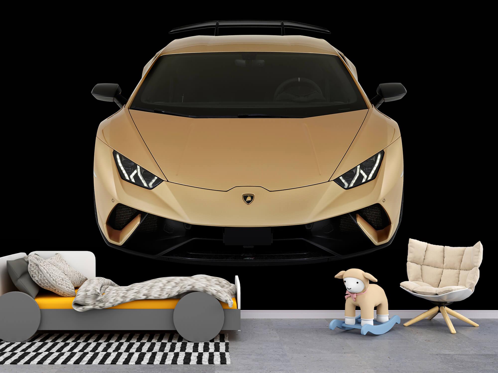 Wallpaper Lamborghini Huracán - Front from above, black 6
