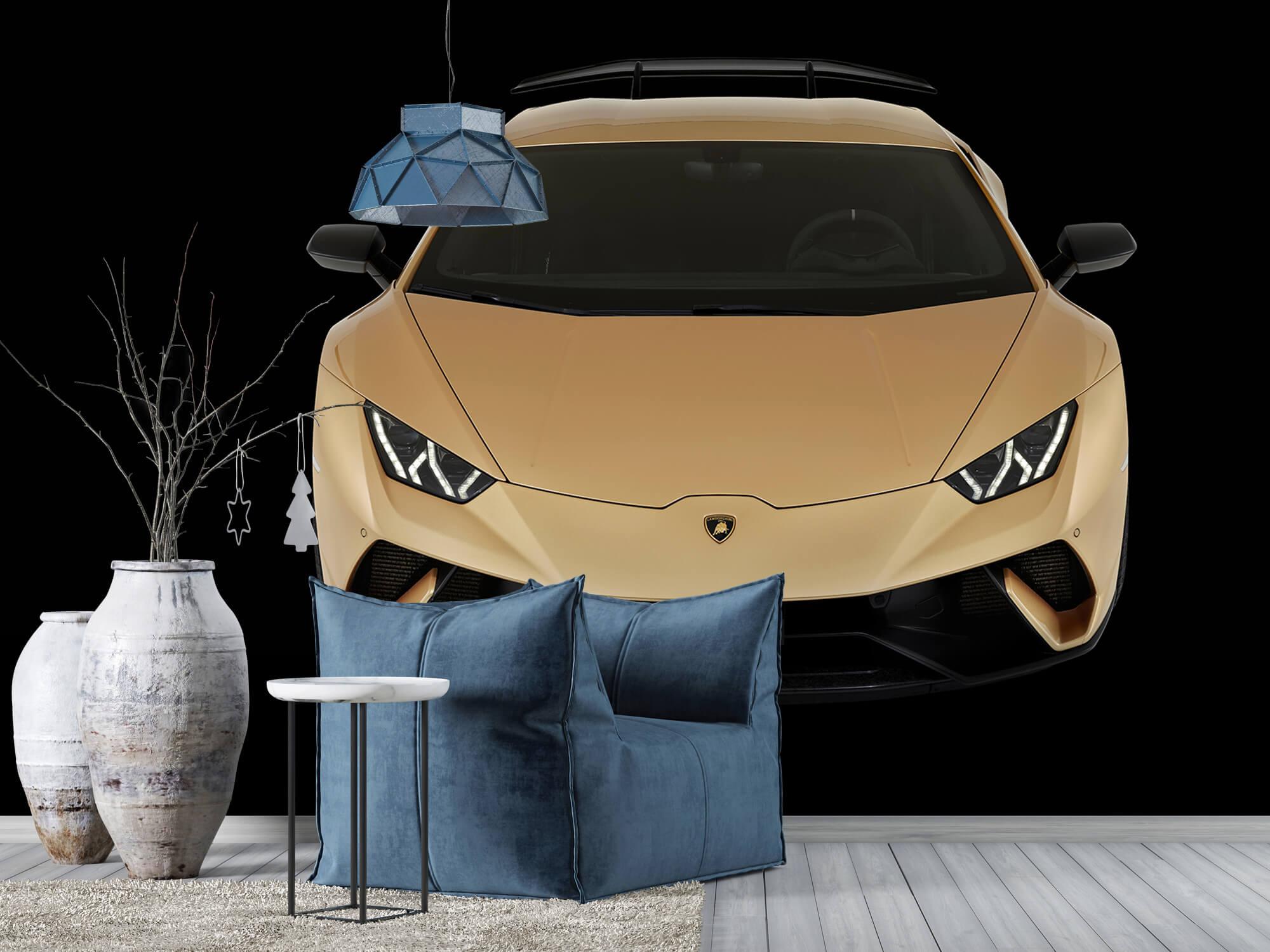 Wallpaper Lamborghini Huracán - Front from above, black 7