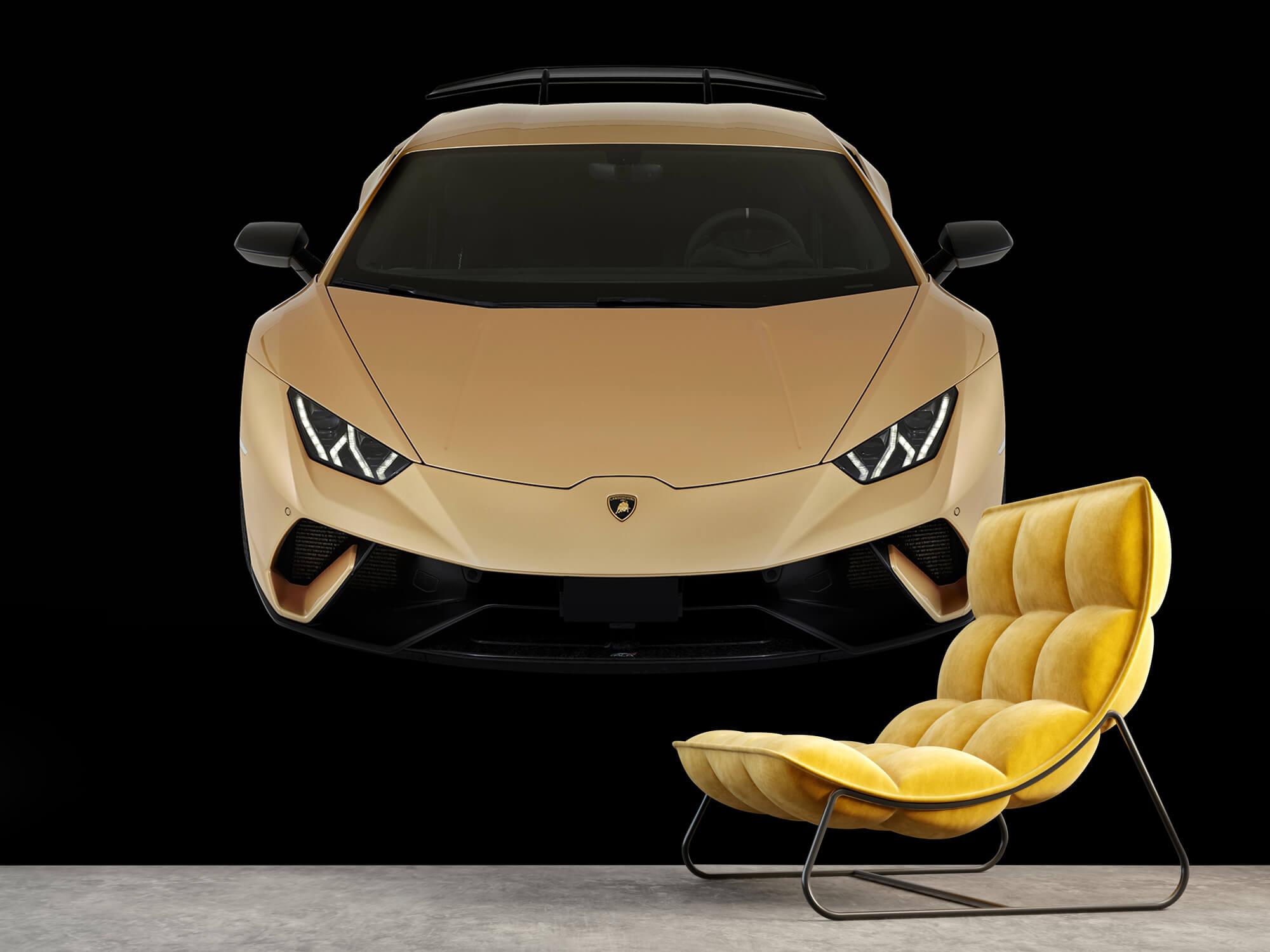 Wallpaper Lamborghini Huracán - Front from above, black 8