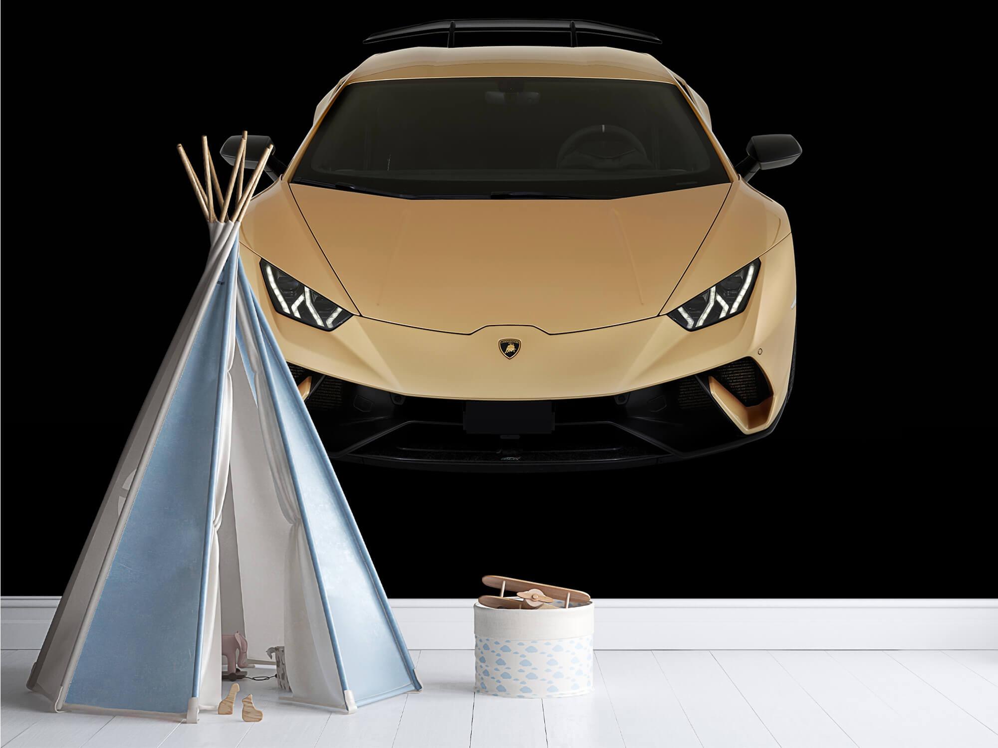 Wallpaper Lamborghini Huracán - Front from above, black 1