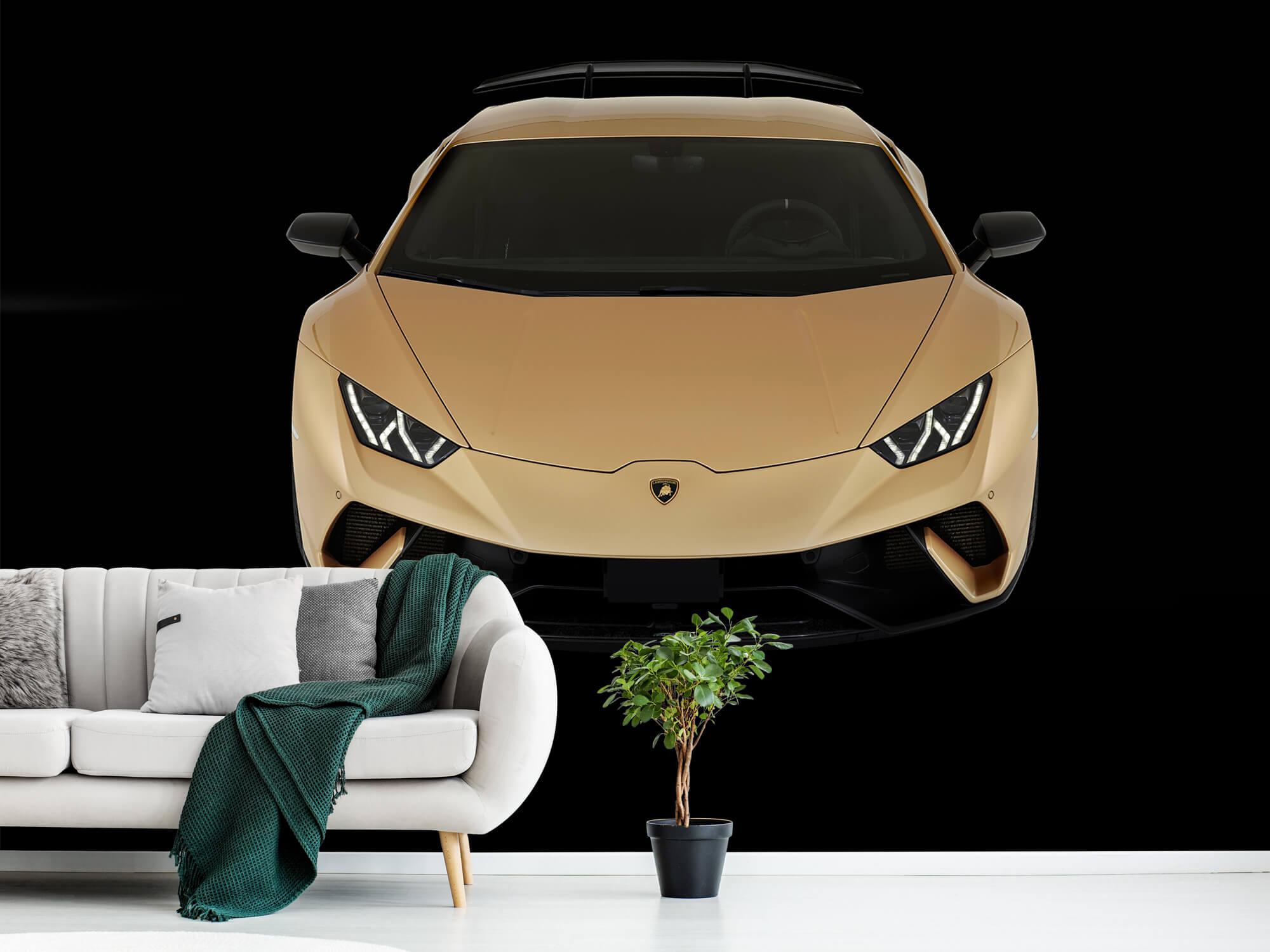 Wallpaper Lamborghini Huracán - Front from above, black 11