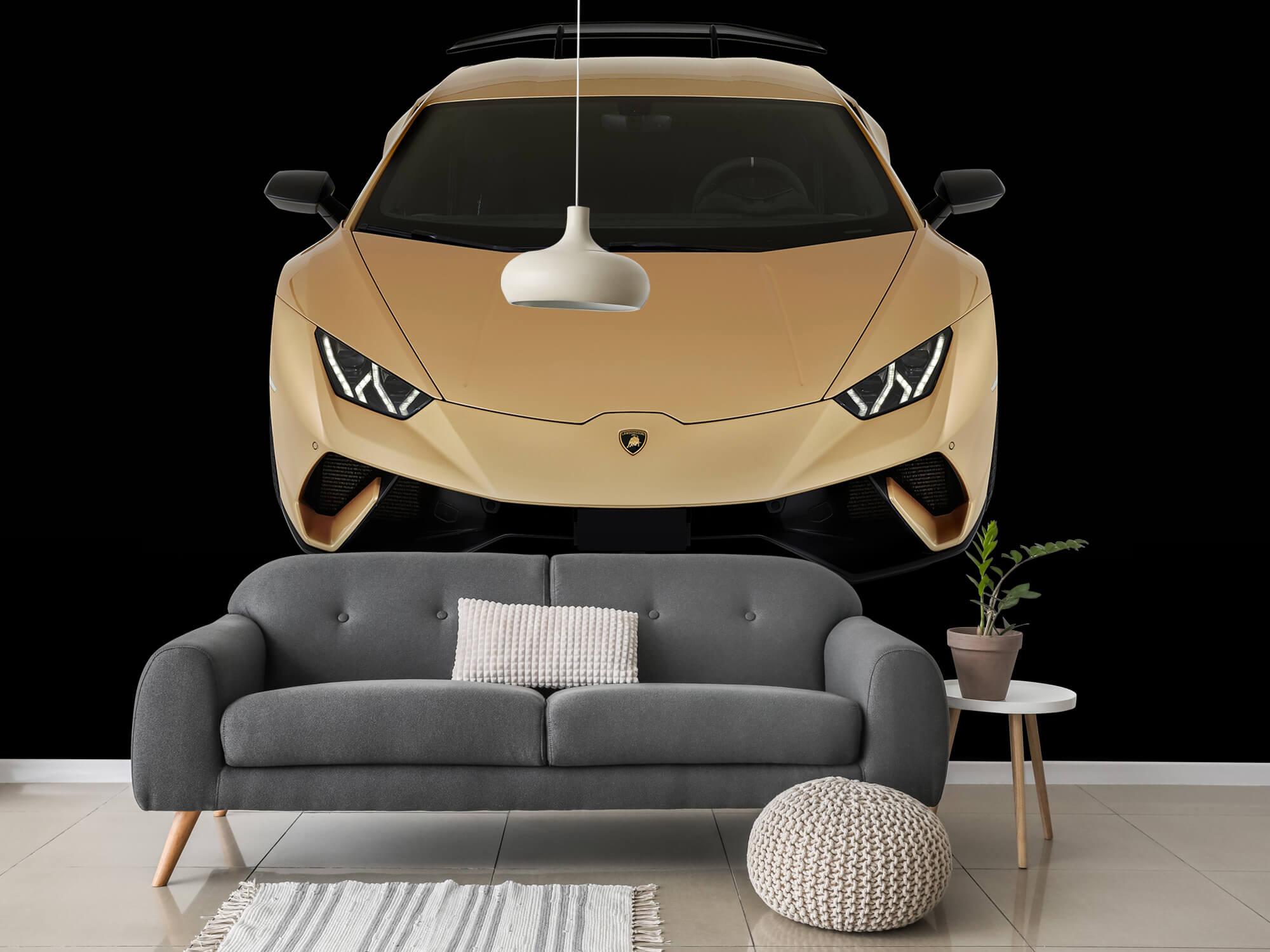 Wallpaper Lamborghini Huracán - Front from above, black 3