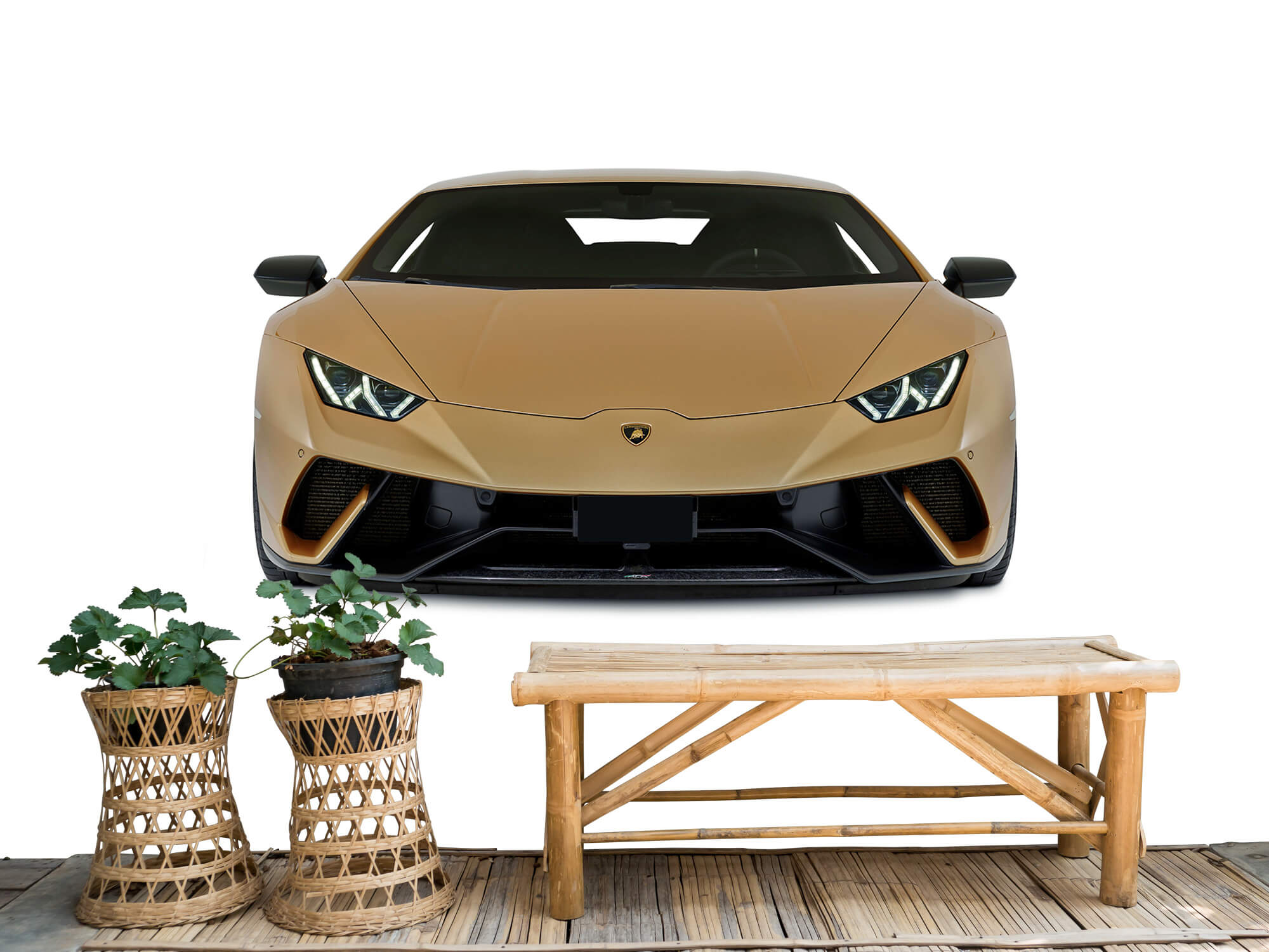 Wallpaper Lamborghini Huracán - Front, white 1