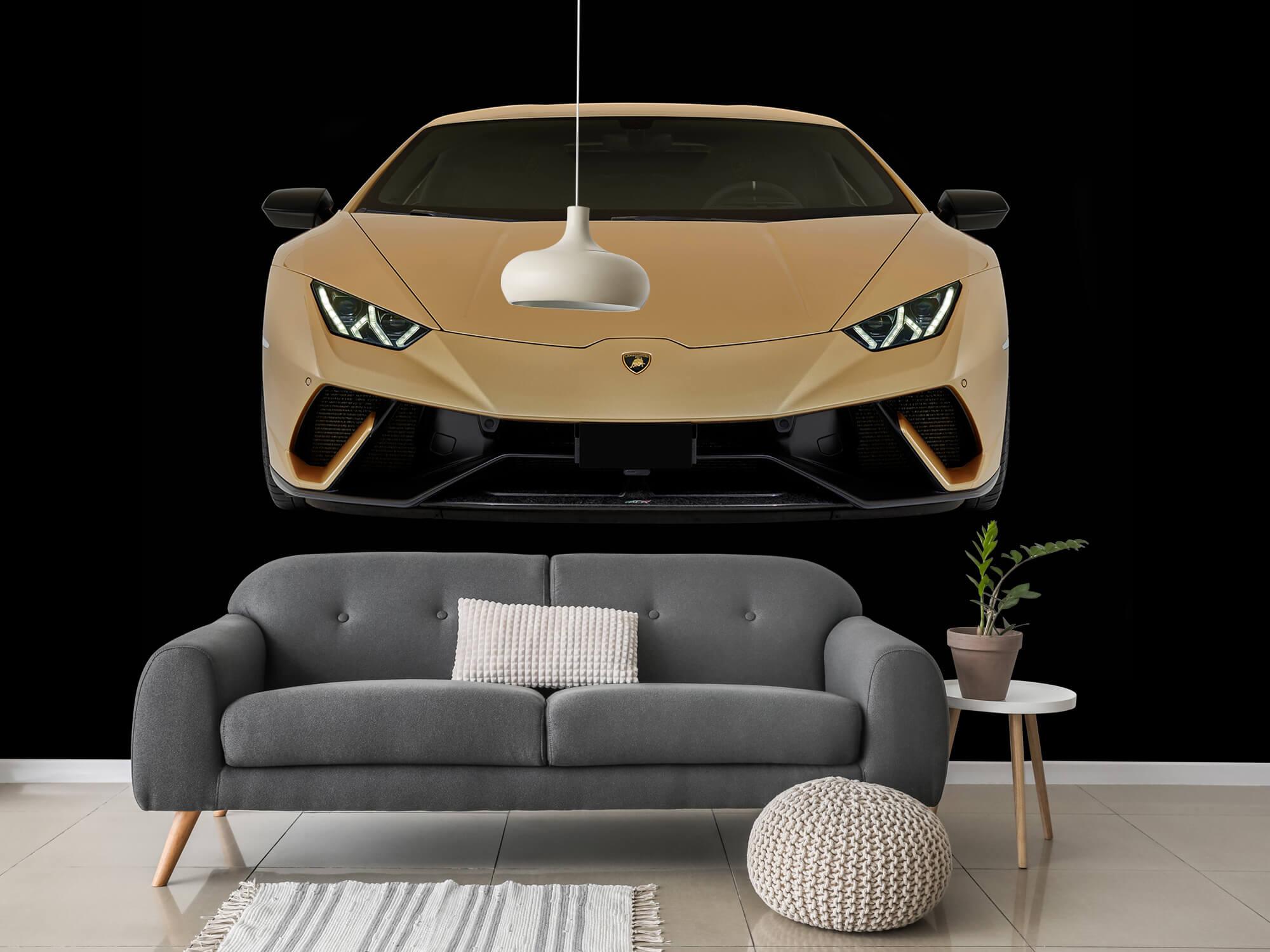 Wallpaper Lamborghini Huracán - Front, black 3