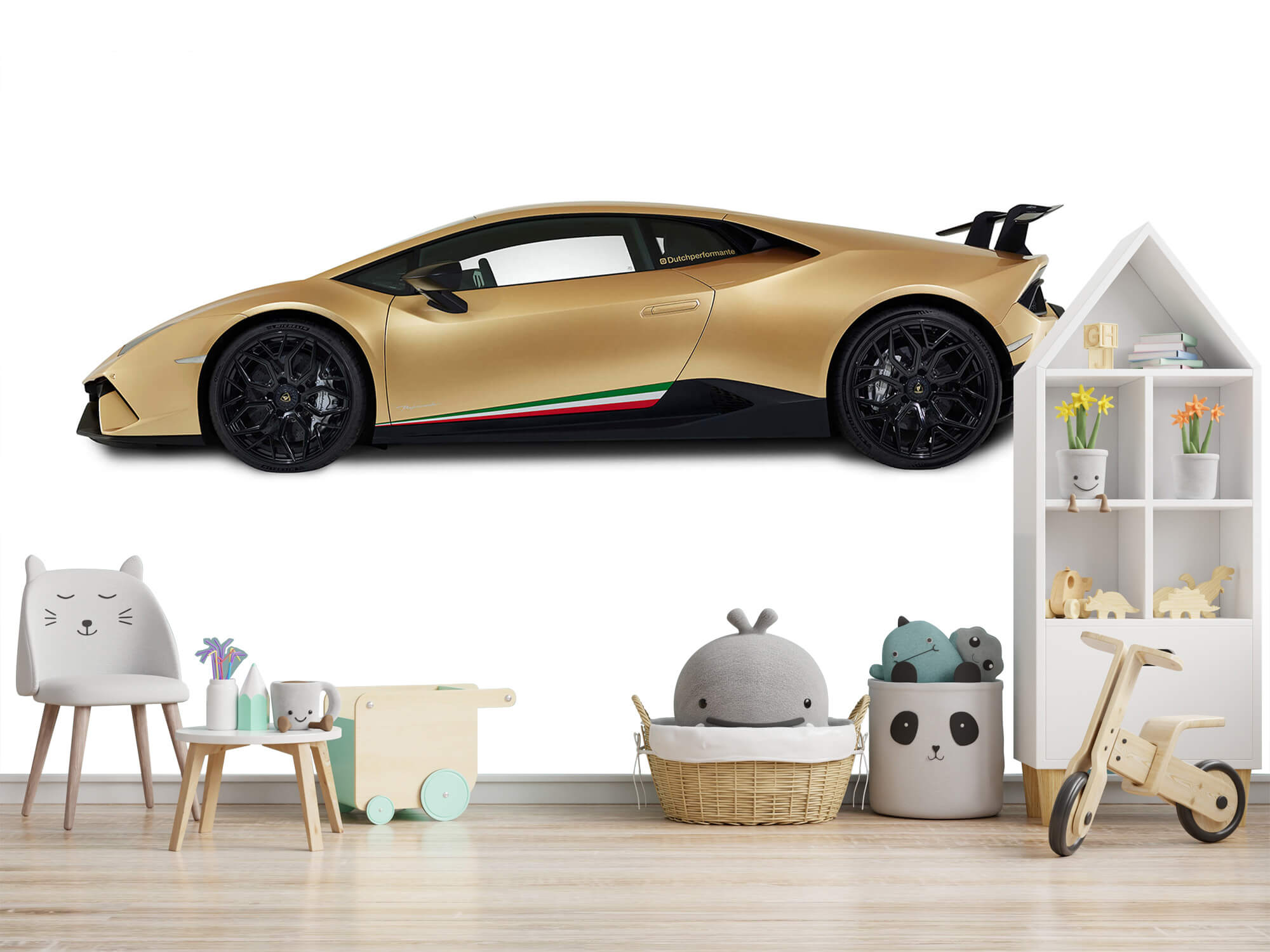 Wallpaper Lamborghini Huracán - Side, white 10