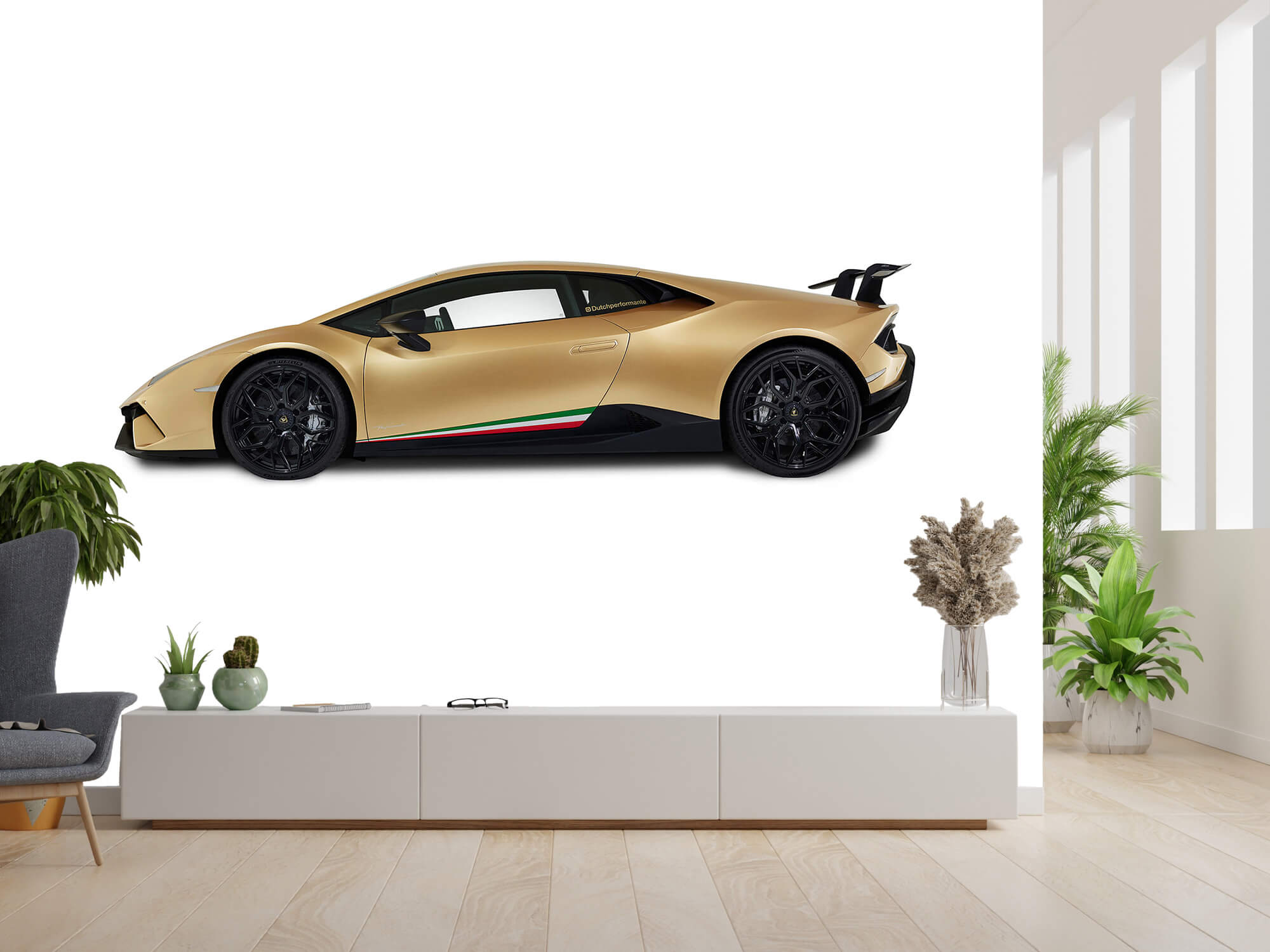 Wallpaper Lamborghini Huracán - Side, white 6