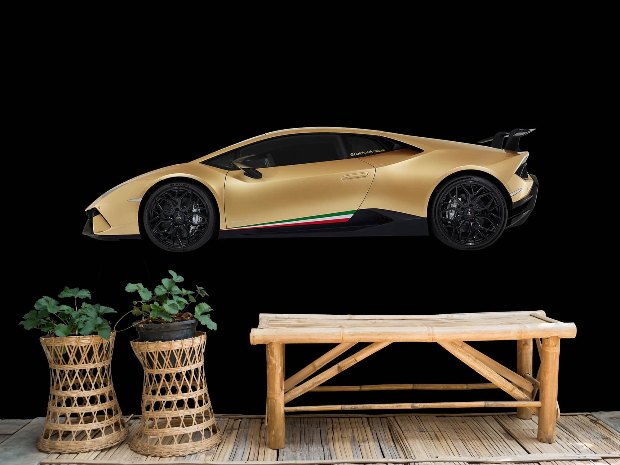 Wallpaper Lamborghini Huracán - Side, black 10
