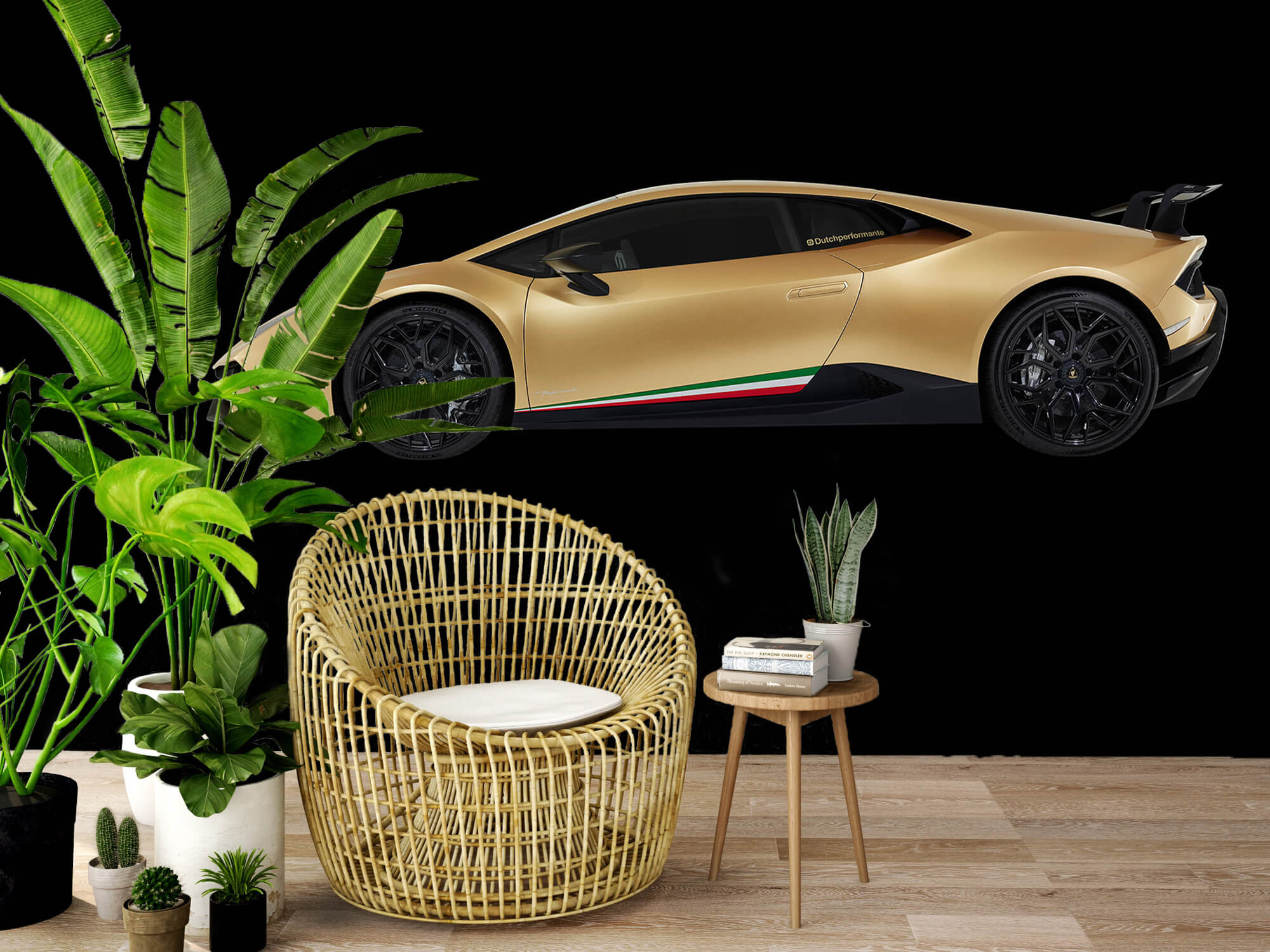 Wallpaper Lamborghini Huracán - Side, black 7
