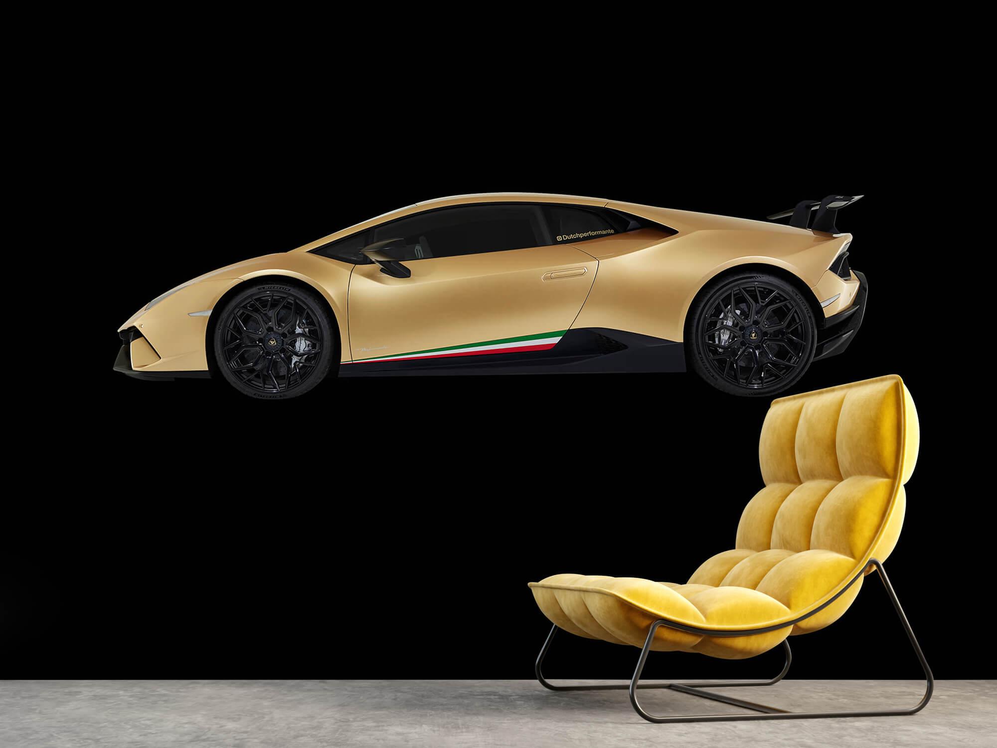 Wallpaper Lamborghini Huracán - Side, black 3