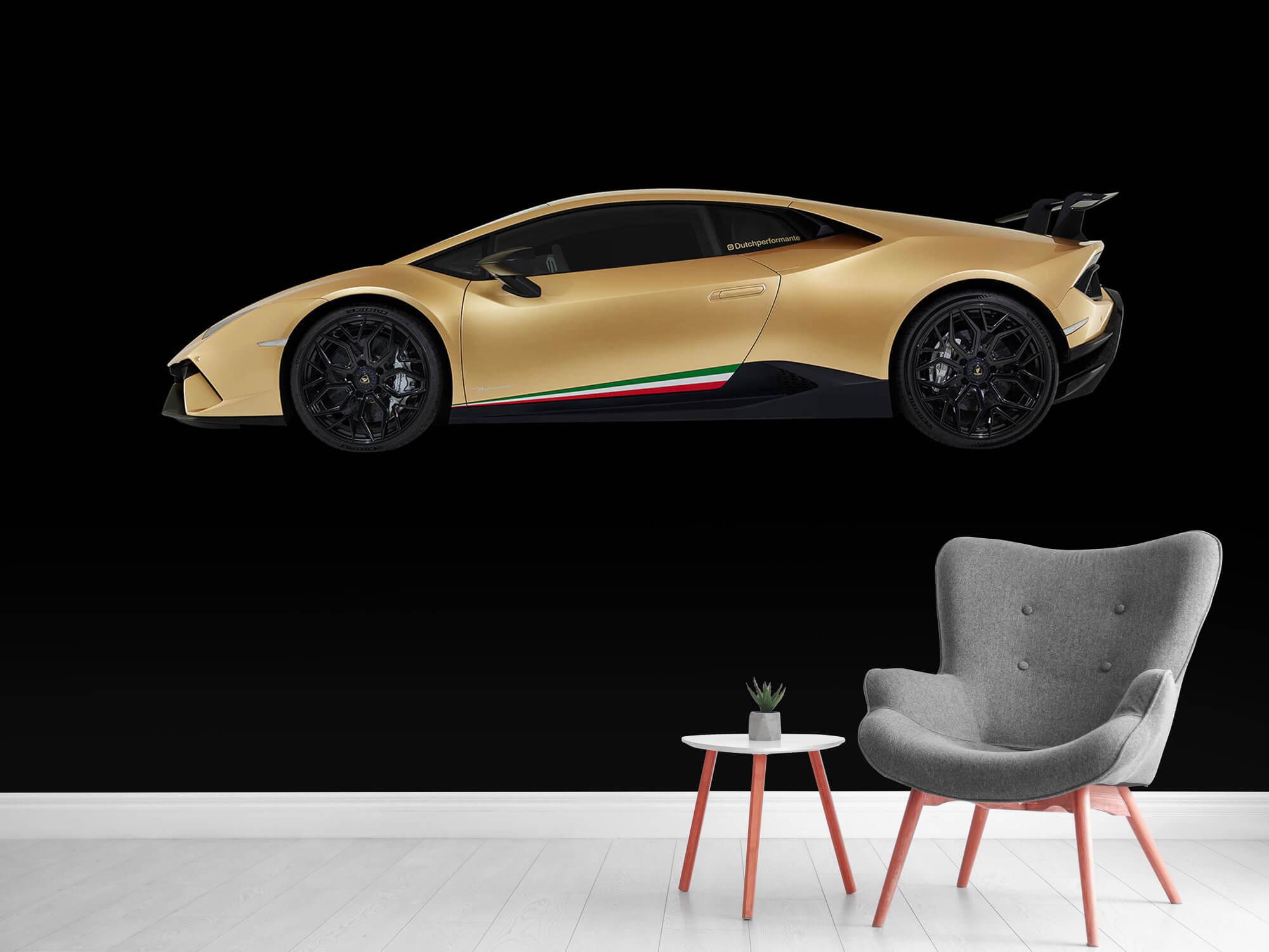 Wallpaper Lamborghini Huracán - Side, black 12