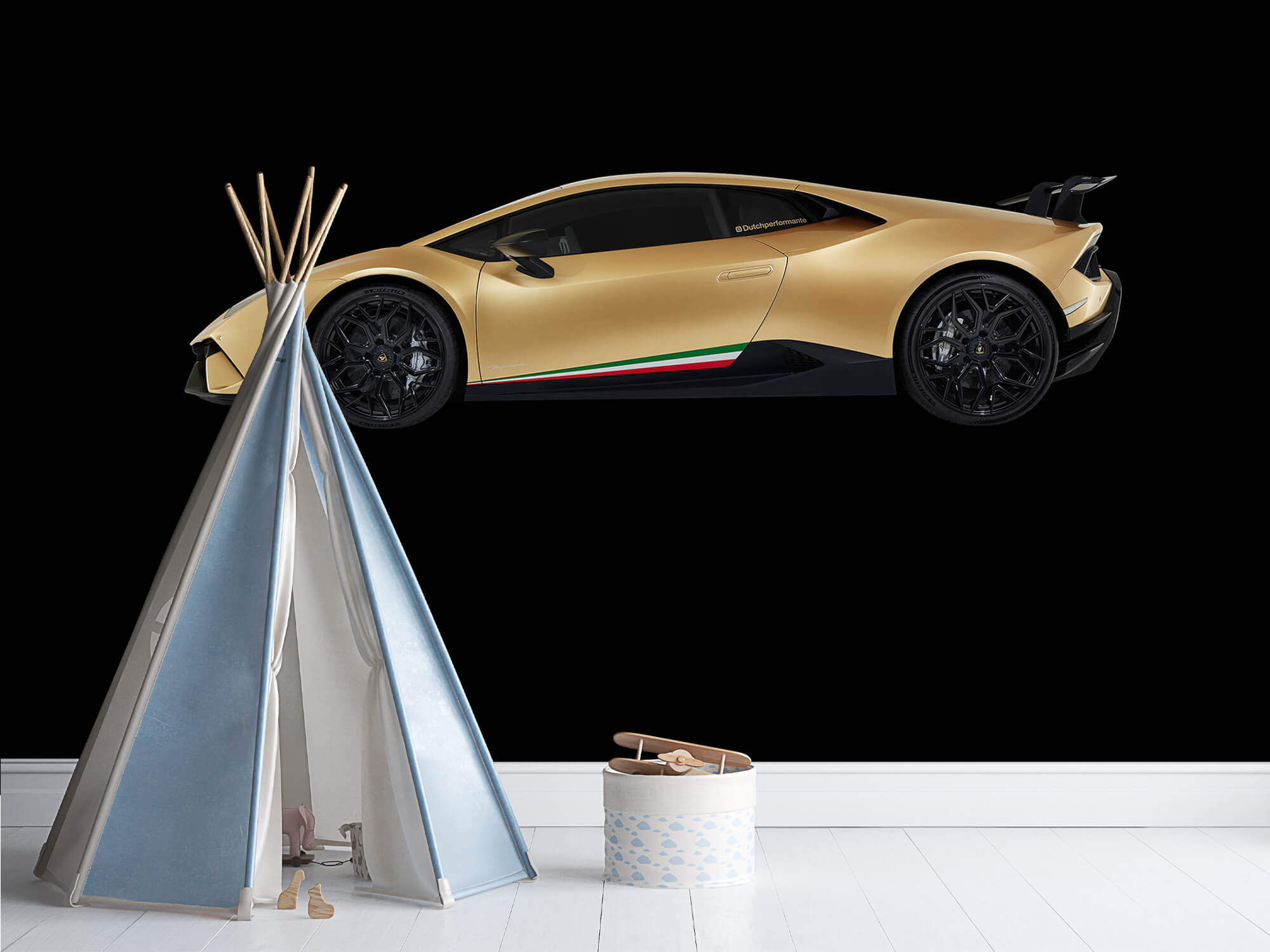 Wallpaper Lamborghini Huracán - Side, black 11
