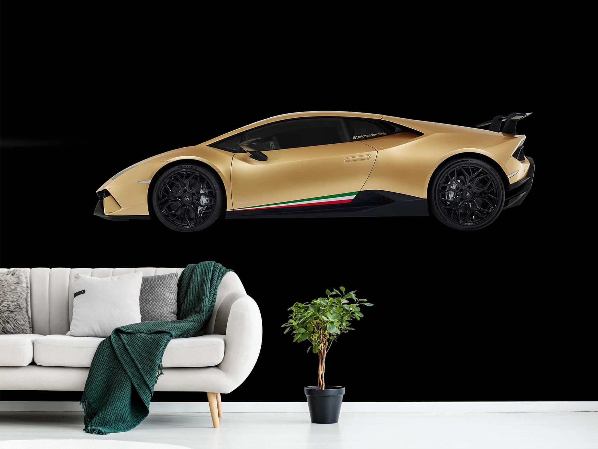 Wallpaper Lamborghini Huracán - Side, black 13