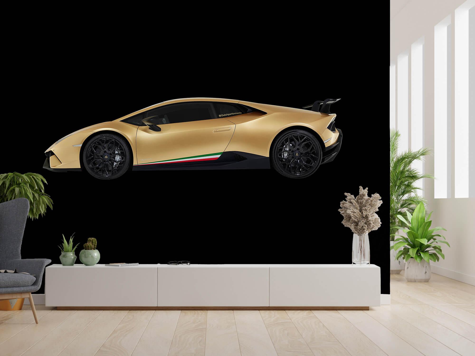 Wallpaper Lamborghini Huracán - Side, black 1