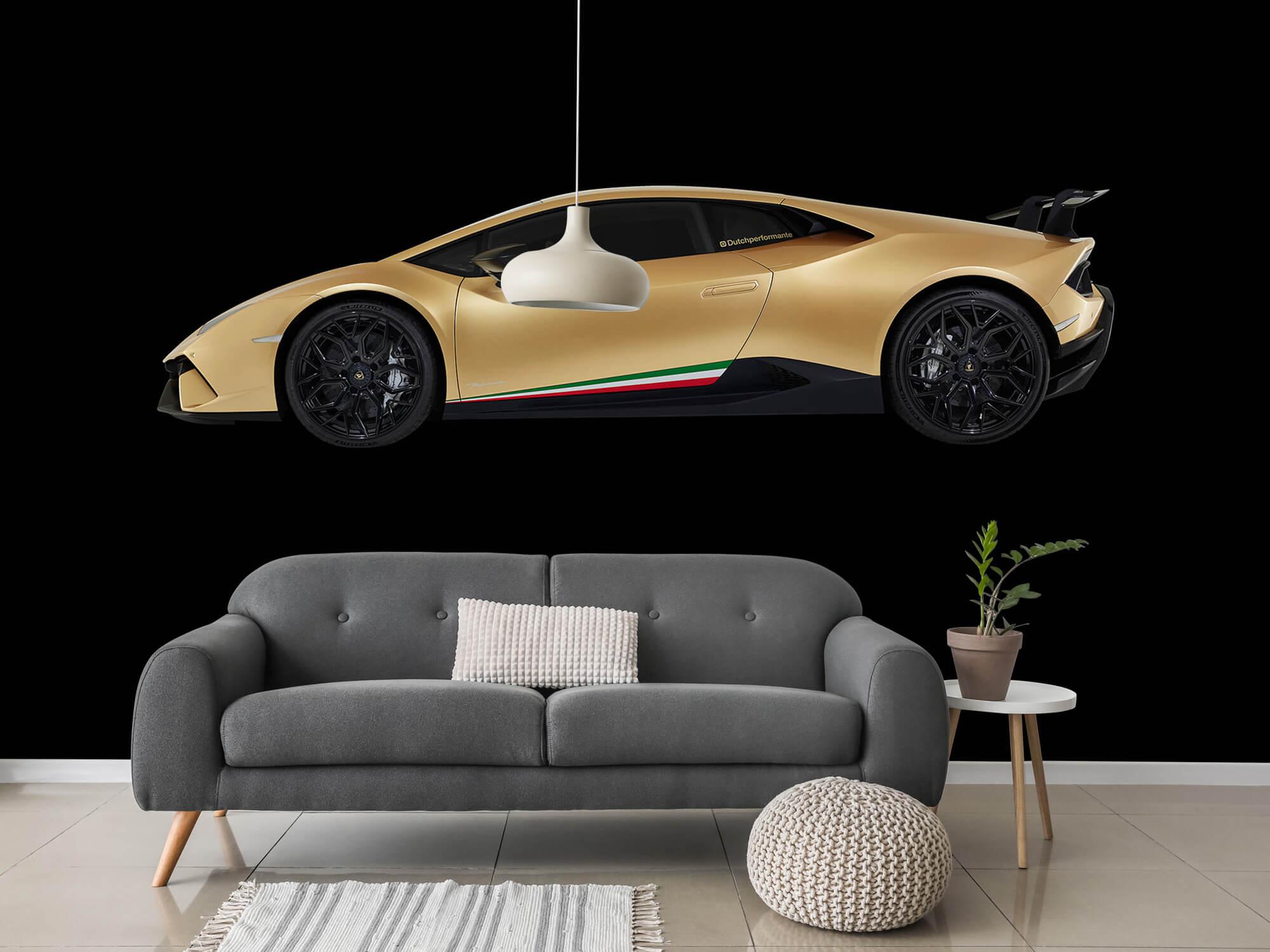 Wallpaper Lamborghini Huracán - Side, black 15