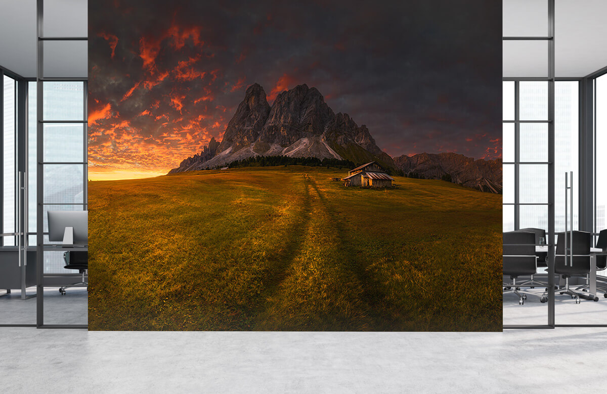 Sunset by a mountain 6