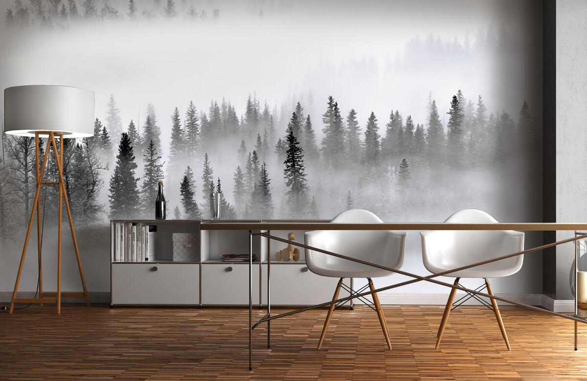Landschap Foggy Forest 4