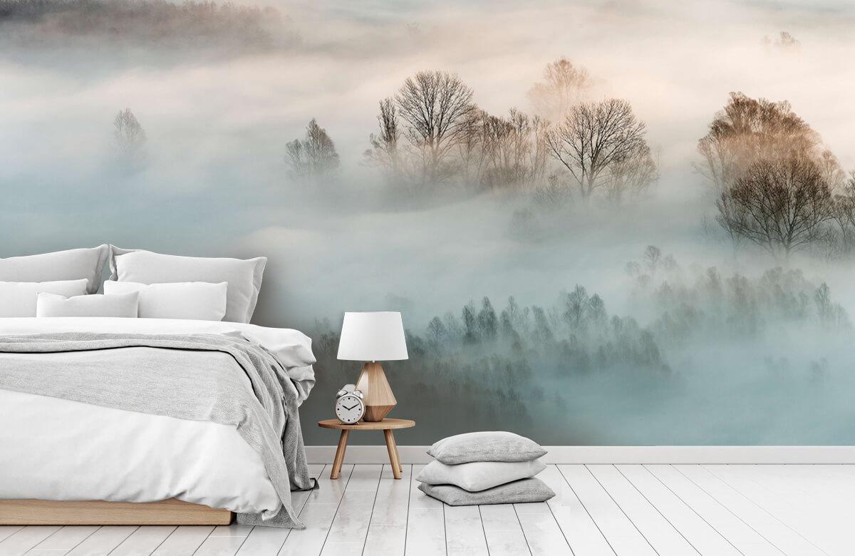Landschap Winter fog 8