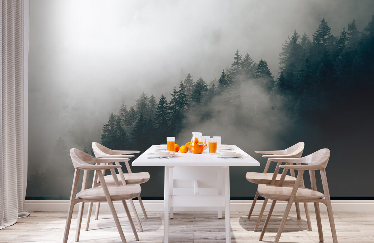 Wallpaper Foggy alpine morning 2