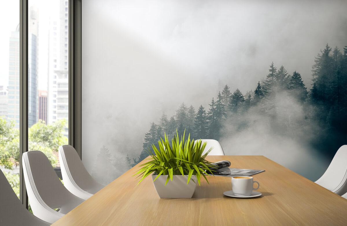 Wallpaper Foggy alpine morning 4