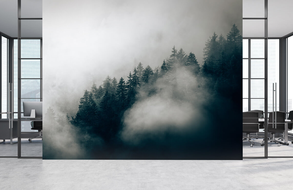 Wallpaper Foggy alpine morning 6
