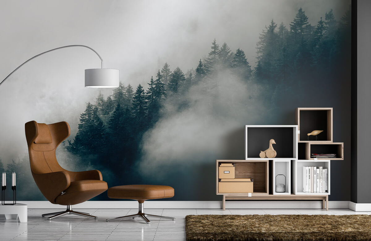 Wallpaper Foggy alpine morning 7