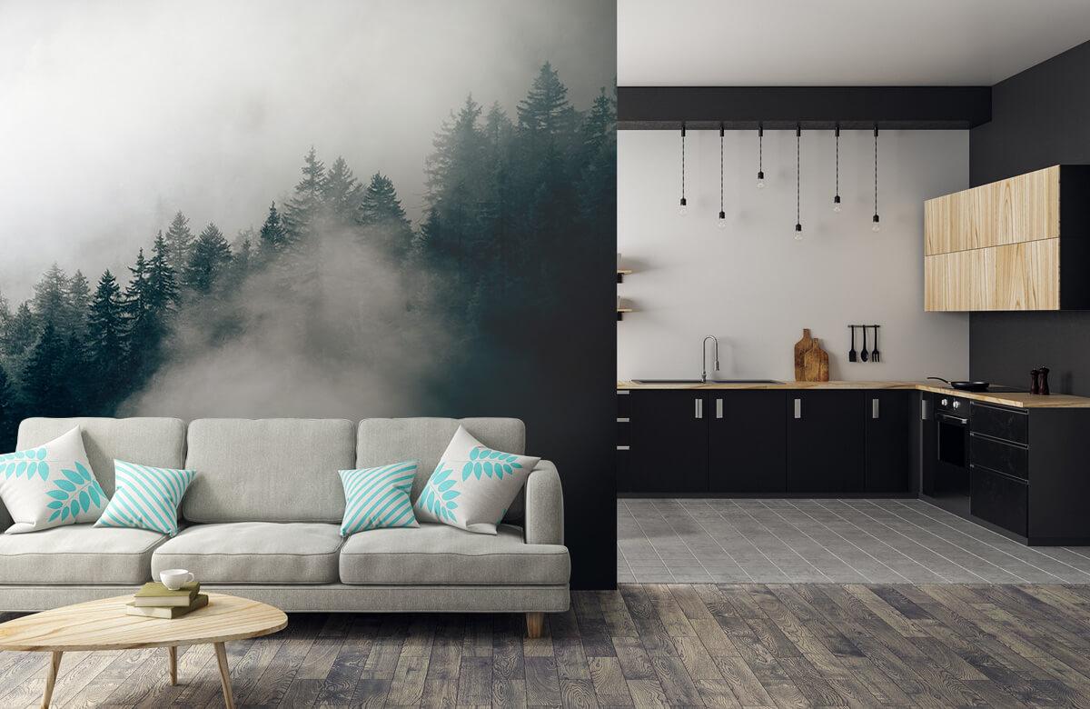 Wallpaper Foggy alpine morning 9