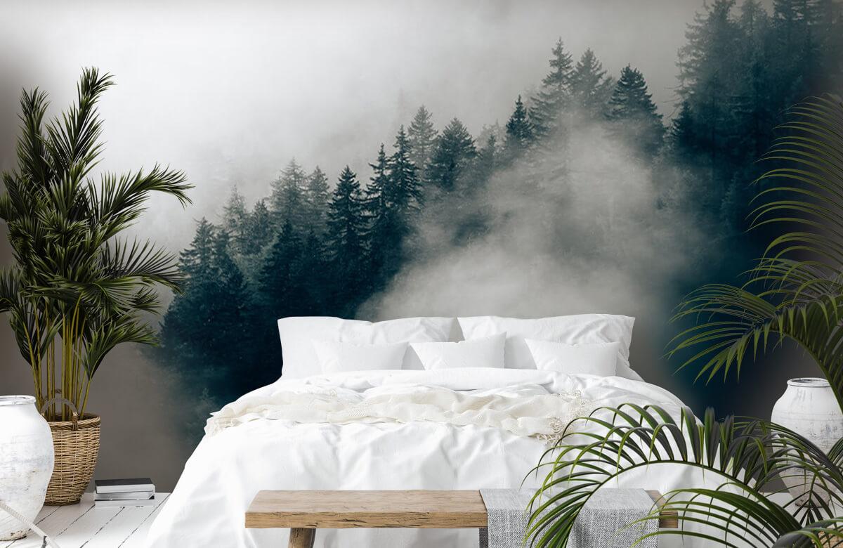 Wallpaper Foggy alpine morning 5