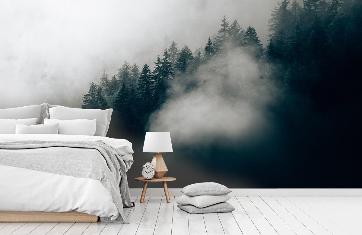 Wallpaper Foggy alpine morning 1