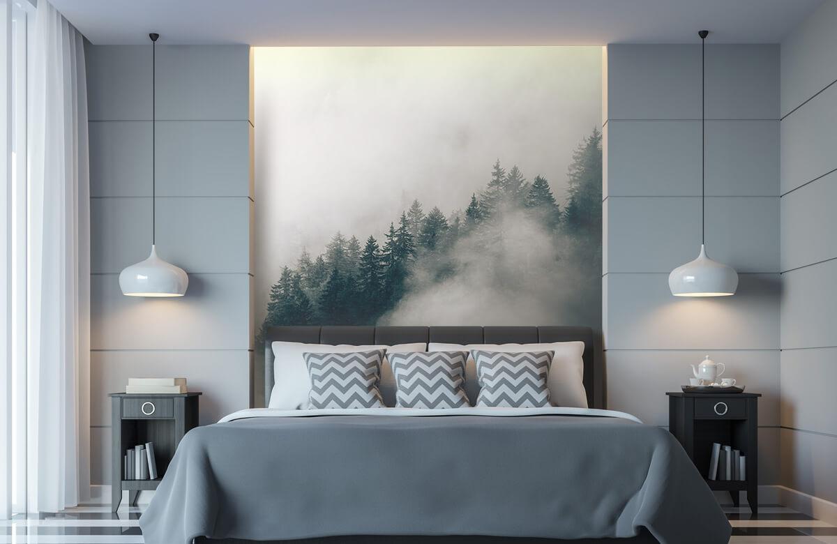 Wallpaper Foggy alpine morning 8