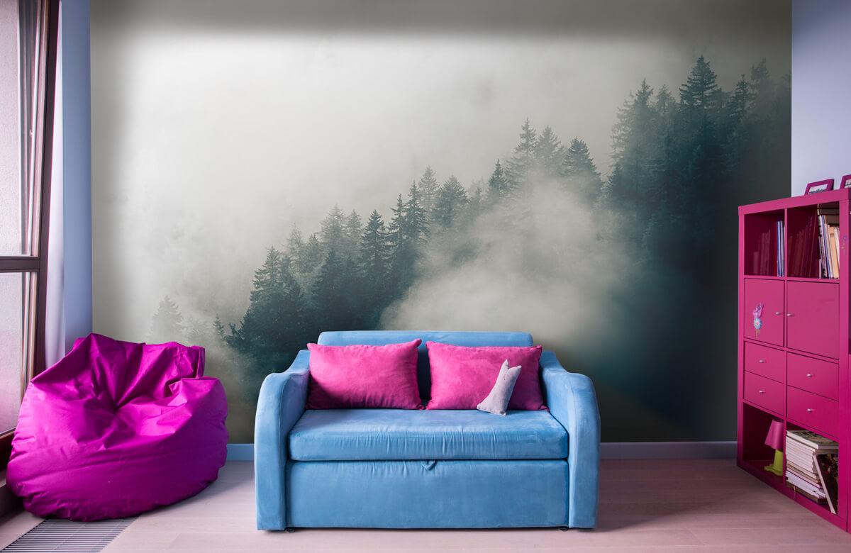 Wallpaper Foggy alpine morning 11