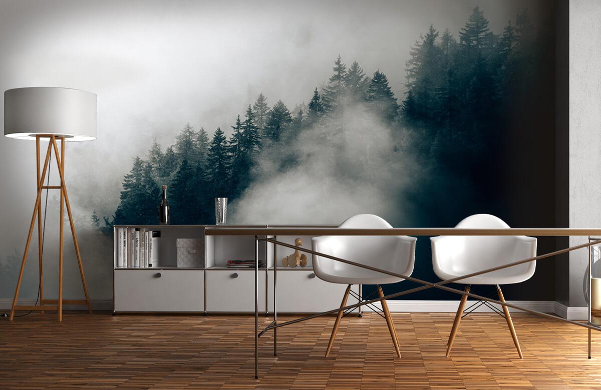 Wallpaper Foggy alpine morning 10