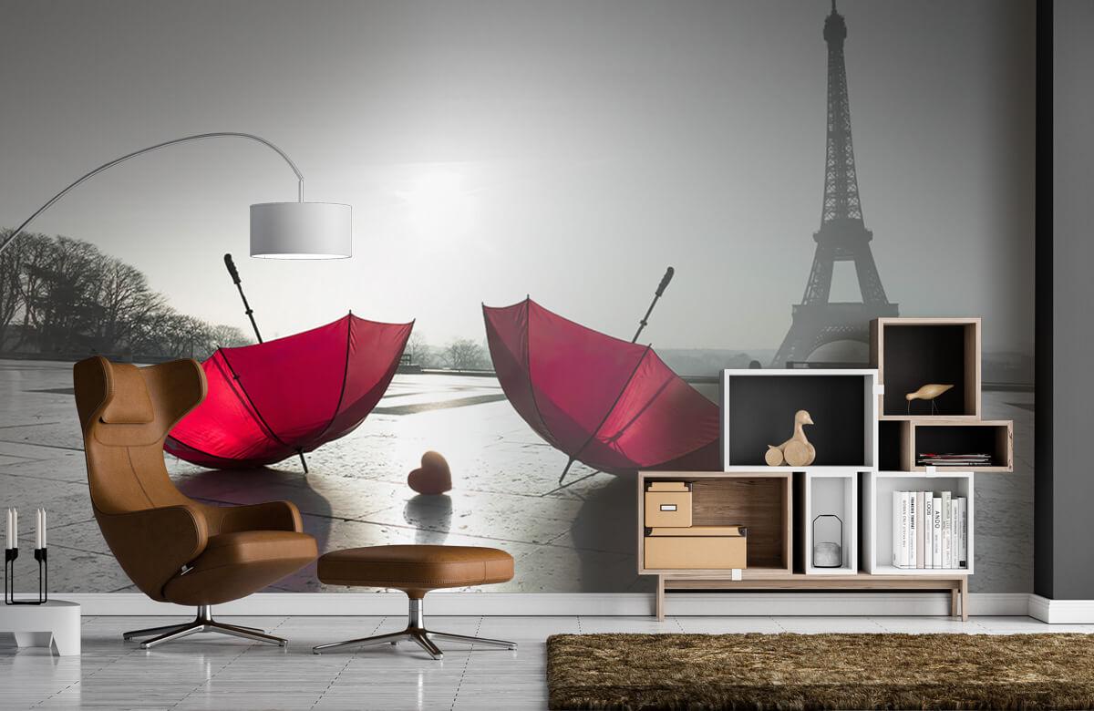 Red umbrellas 1