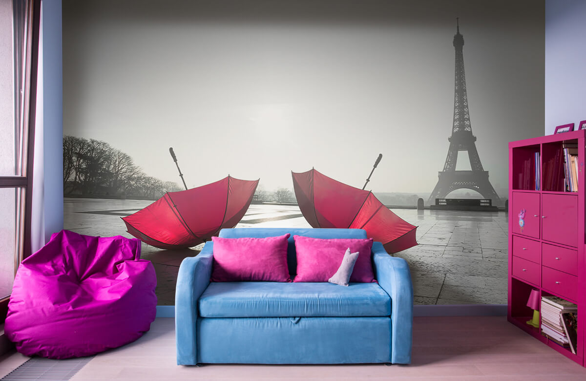 Red umbrellas 5