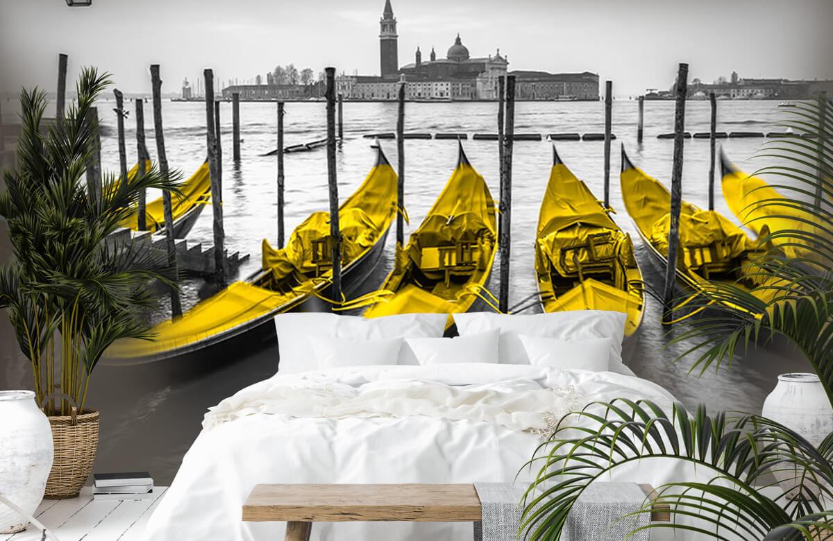 Gondolas along the canal 6