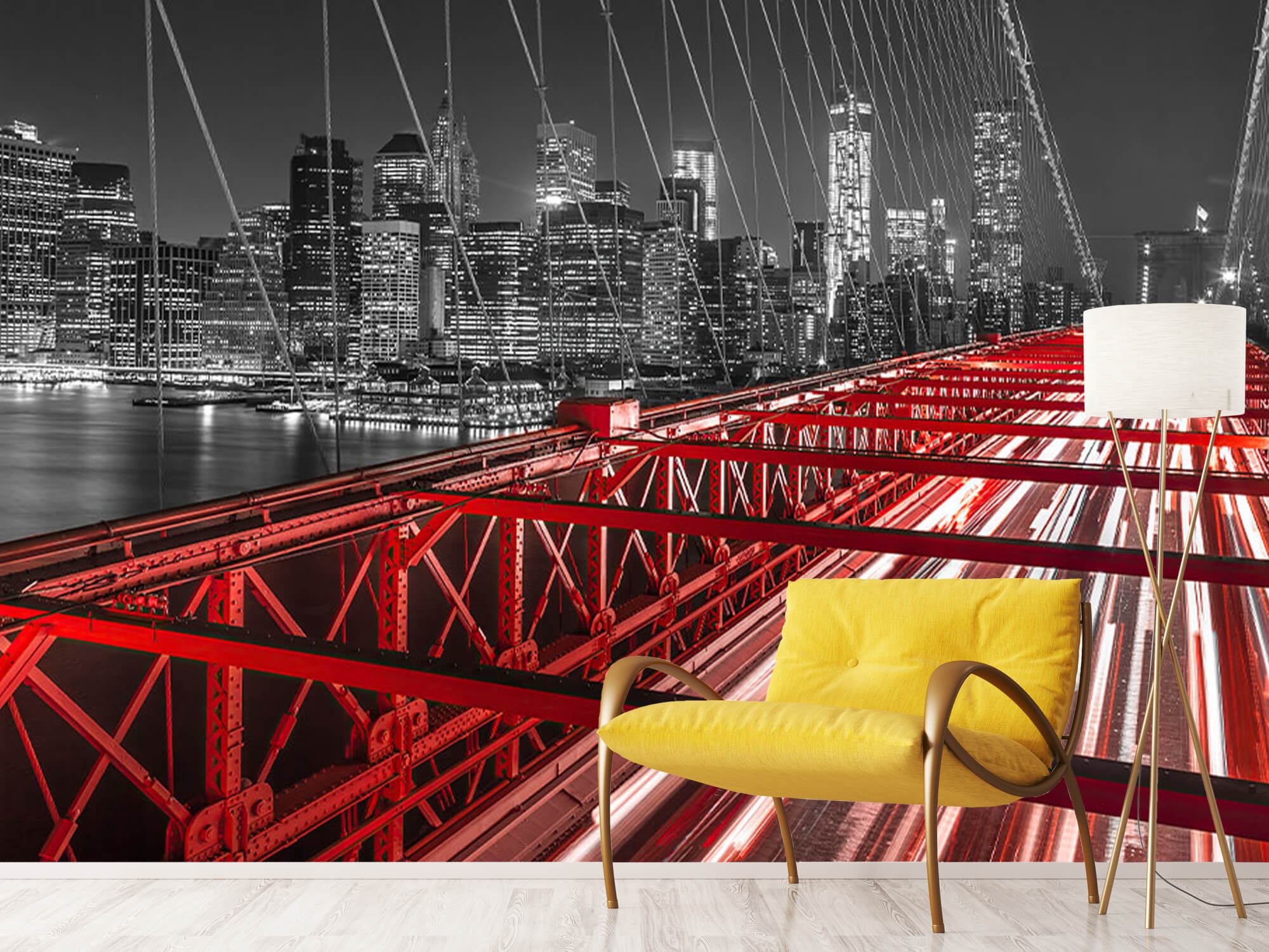 Red Brooklyn Bridge 2
