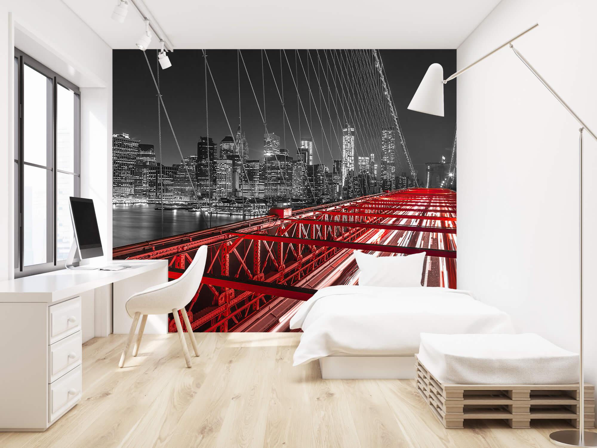 Red Brooklyn Bridge 1
