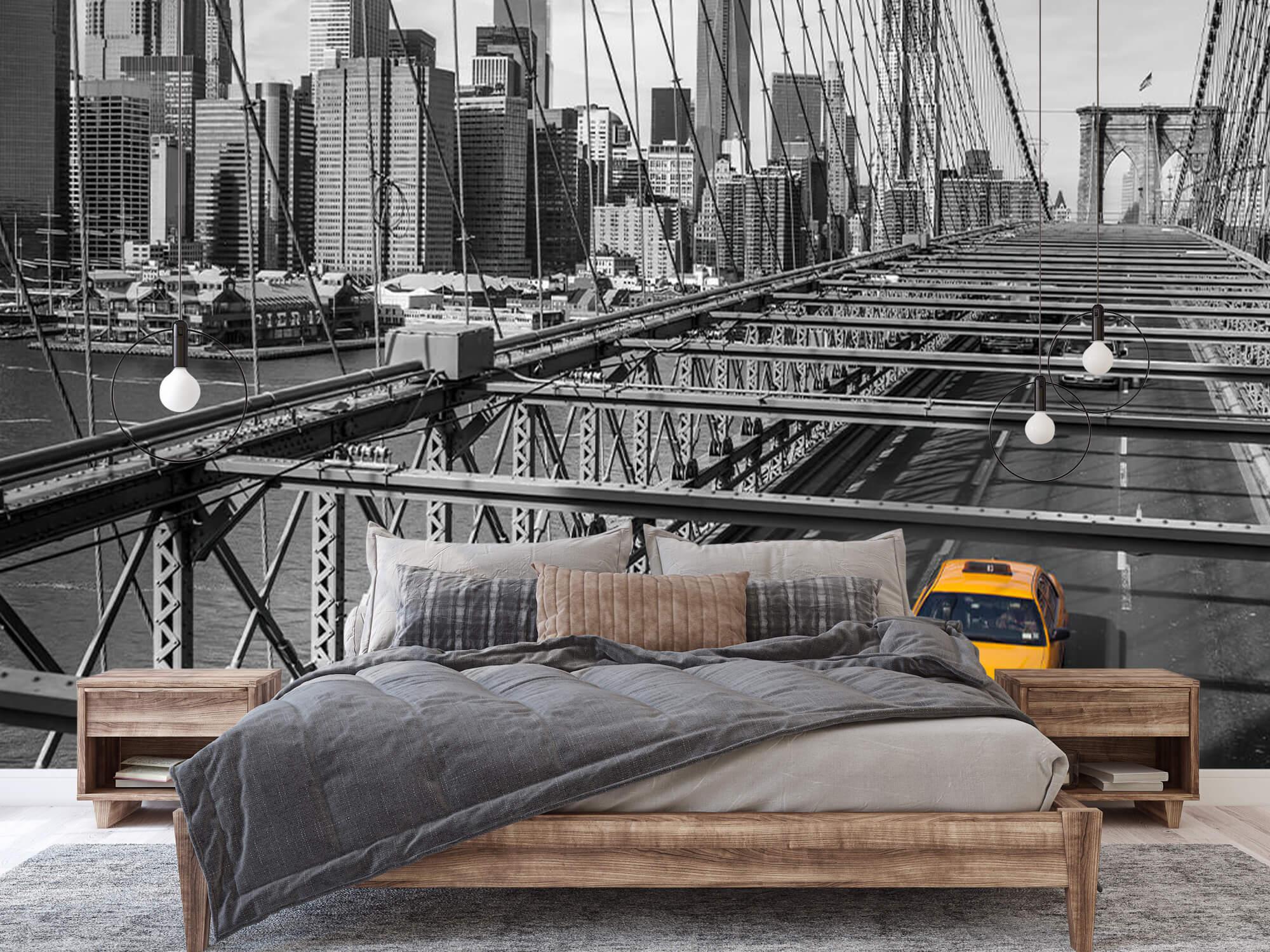 A taxi across the Brooklyn Bridge 5