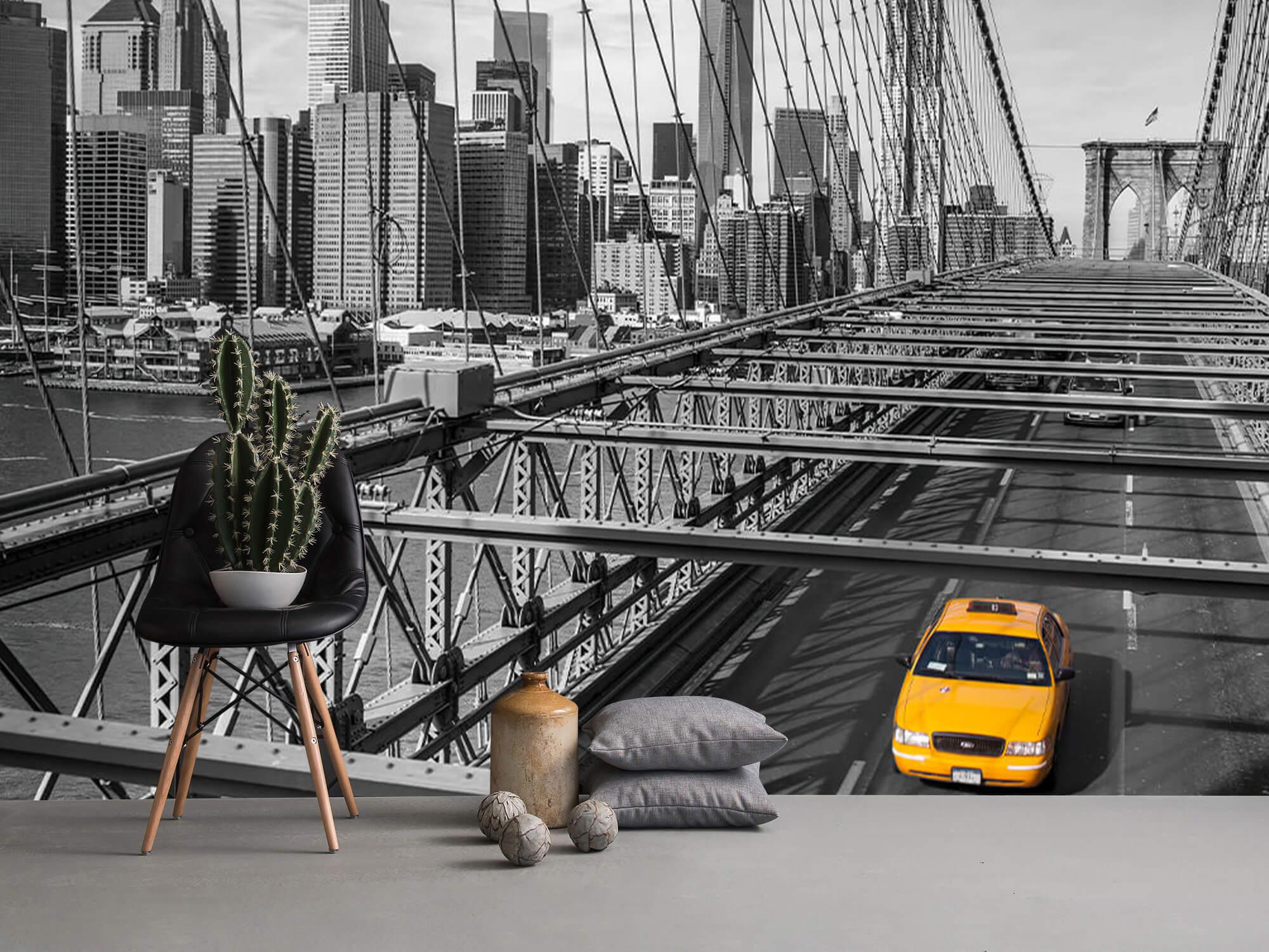 A taxi across the Brooklyn Bridge 10
