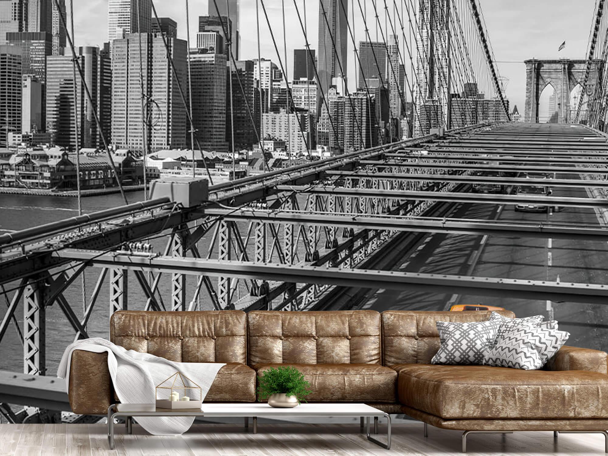 A taxi across the Brooklyn Bridge 17