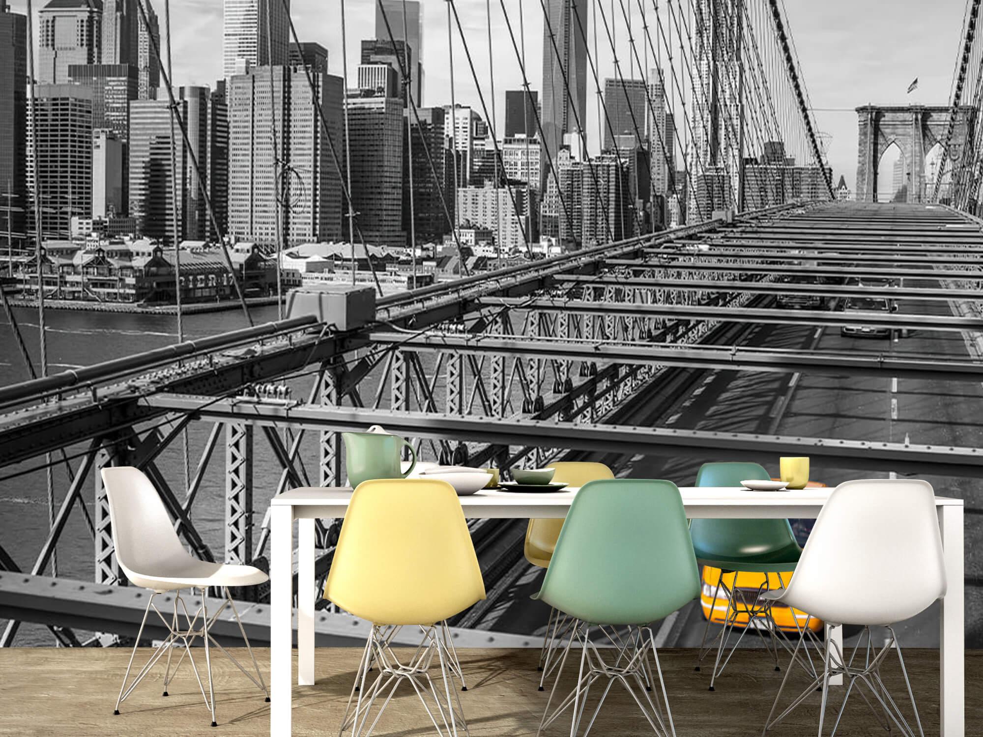 A taxi across the Brooklyn Bridge 14