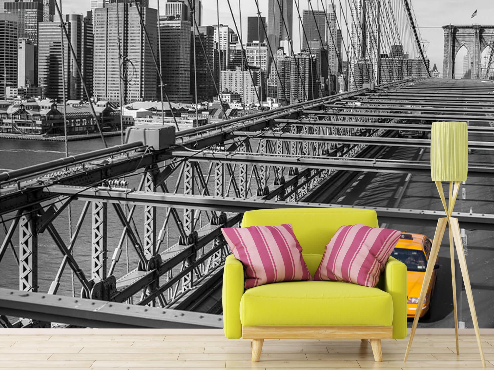A taxi across the Brooklyn Bridge 12
