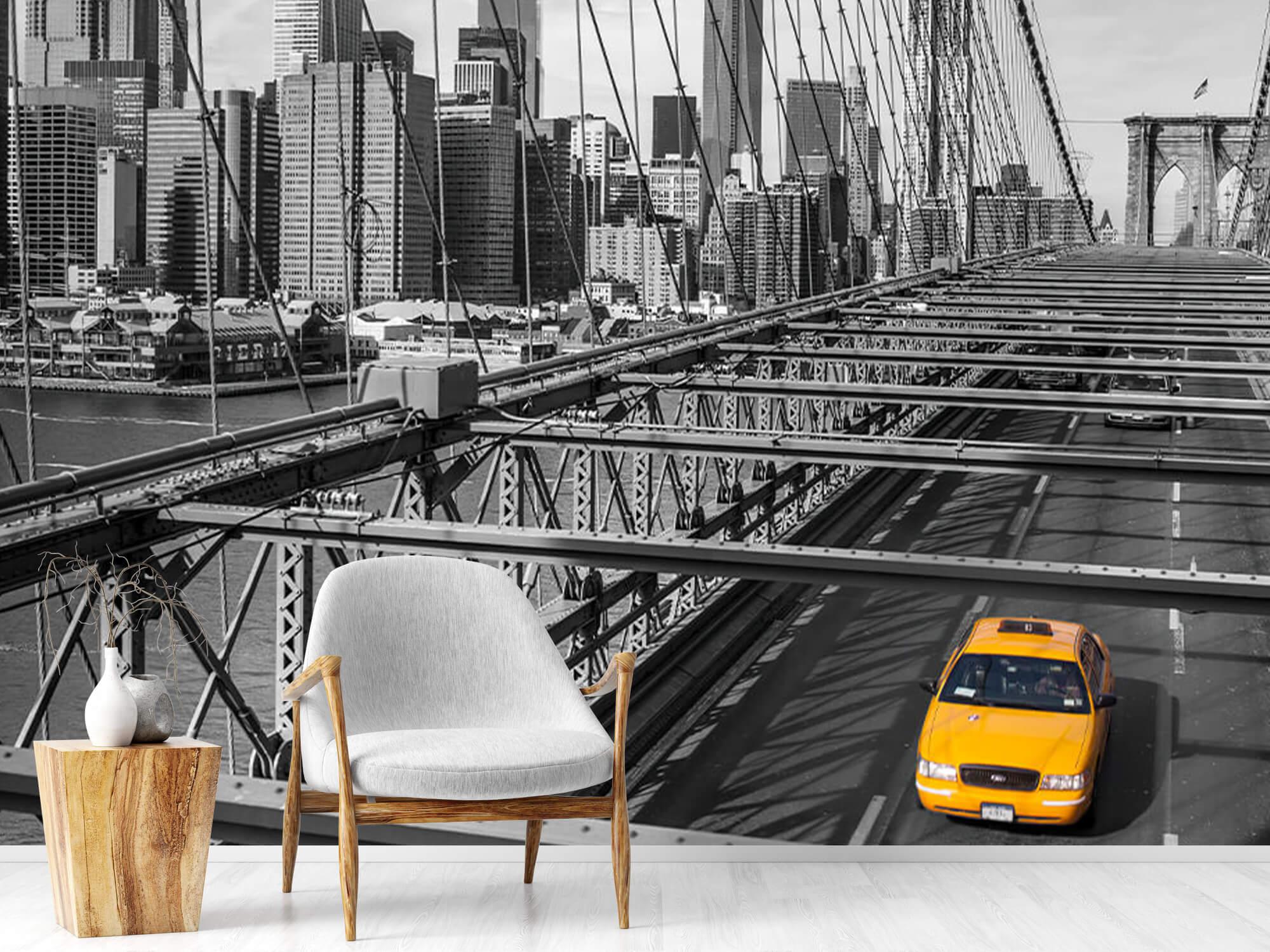 A taxi across the Brooklyn Bridge 2