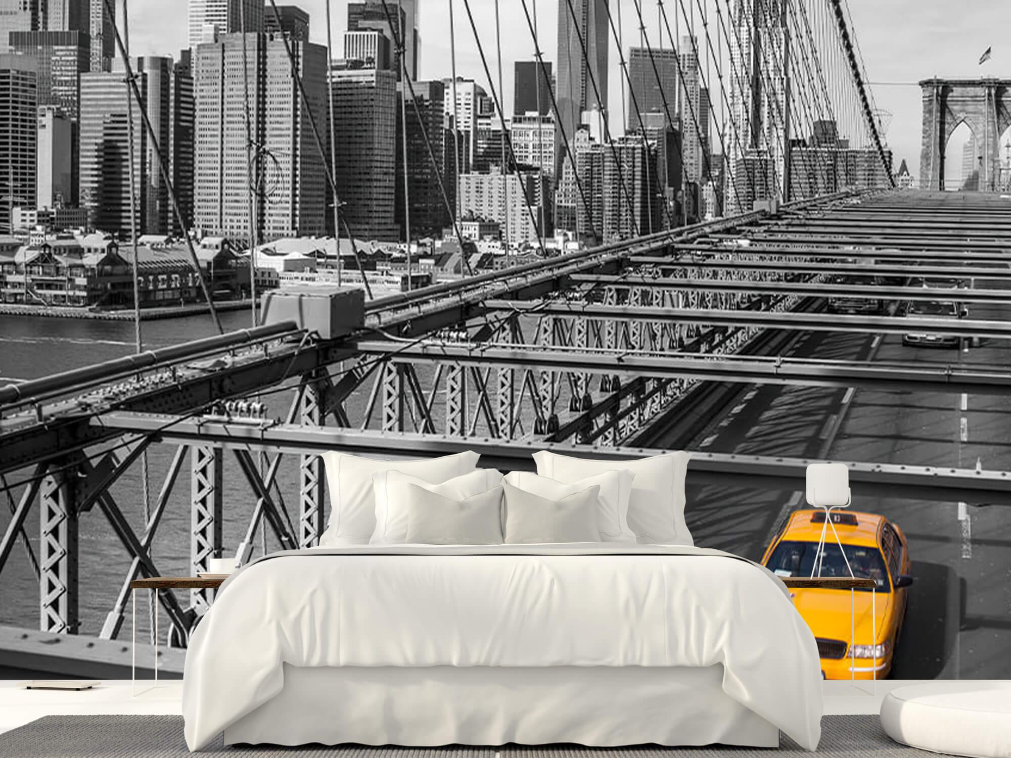 A taxi across the Brooklyn Bridge 1