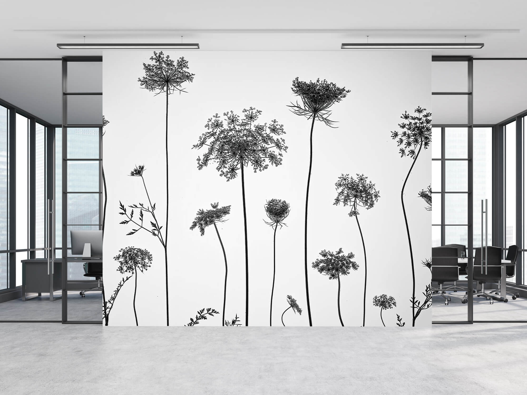 Cow parsley in black and white 13