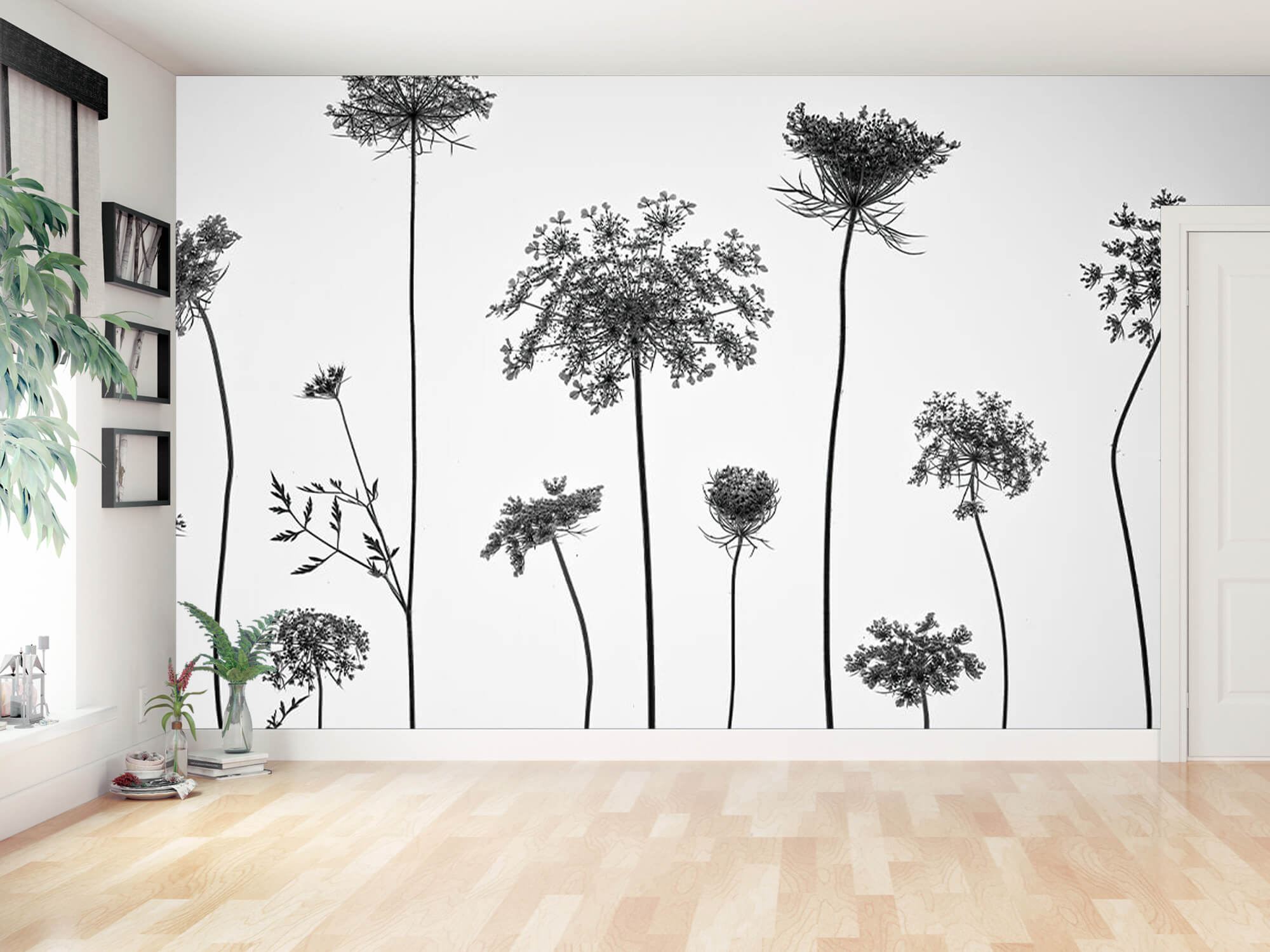 Cow parsley in black and white 10