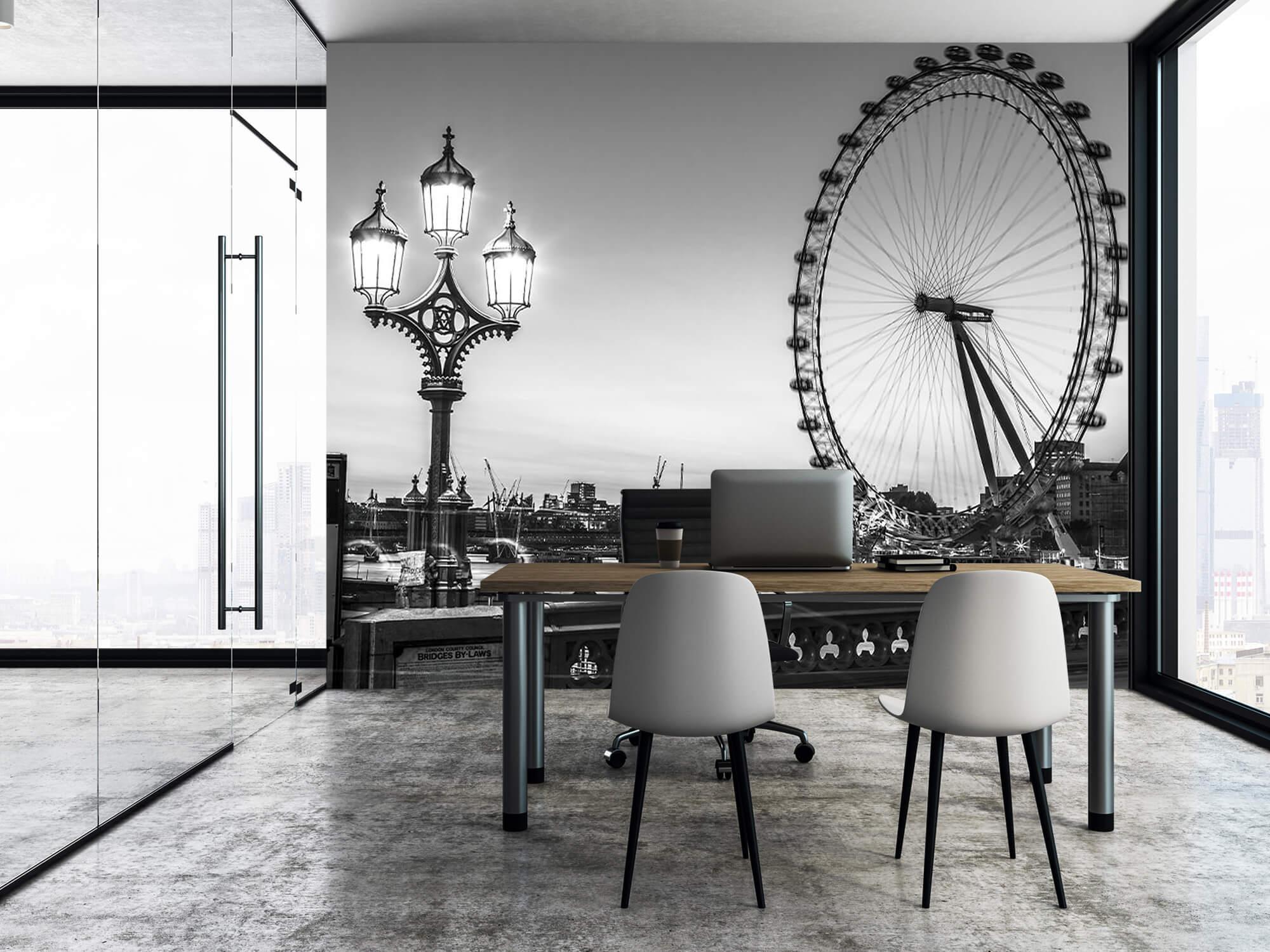 Ferris wheel black and white 9