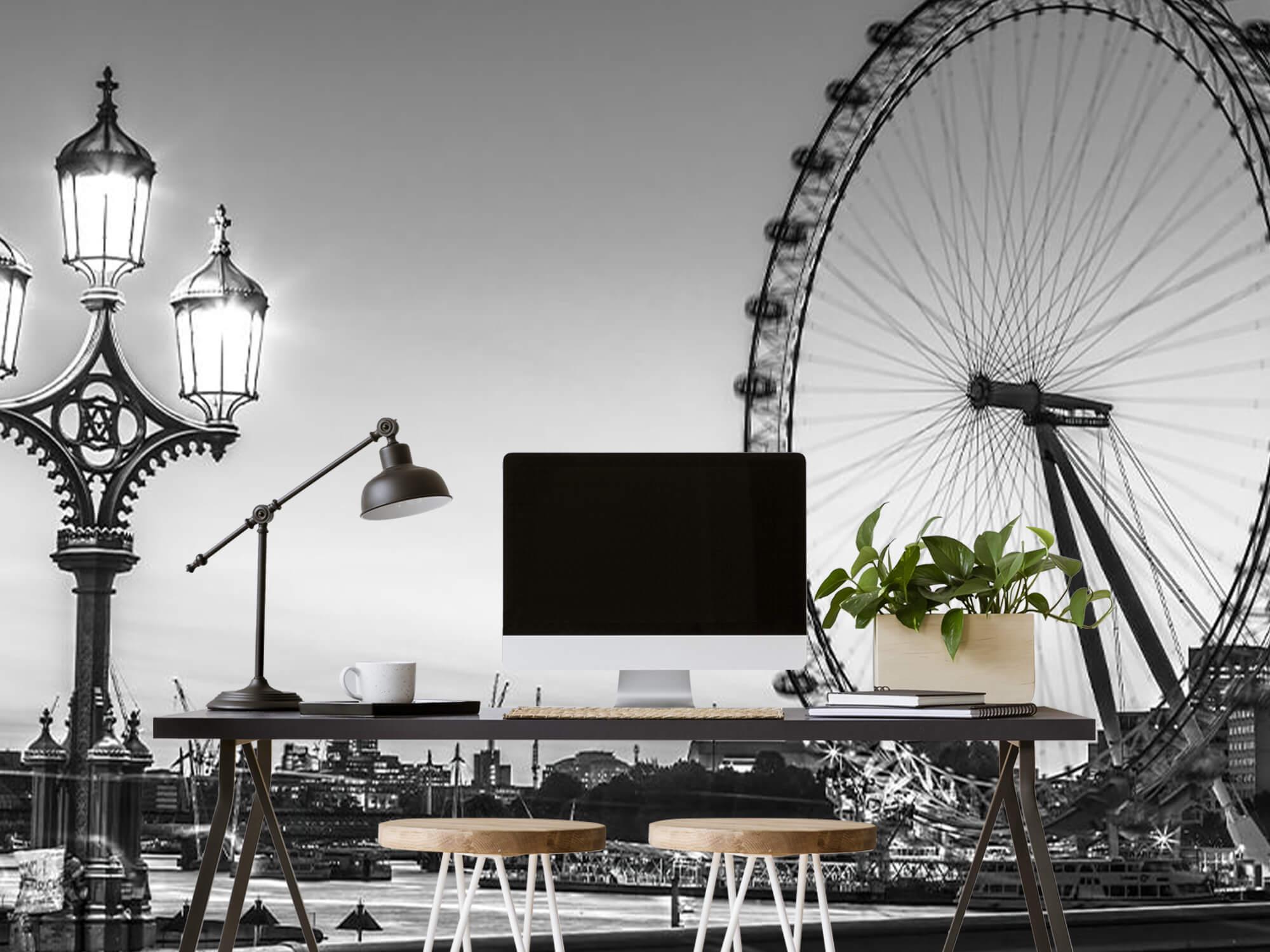Ferris wheel black and white 11