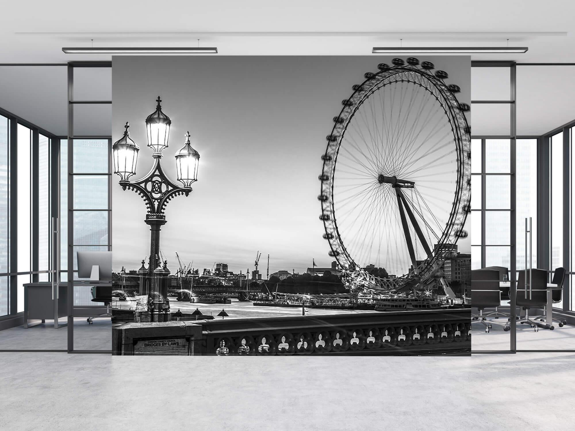 Ferris wheel black and white 12