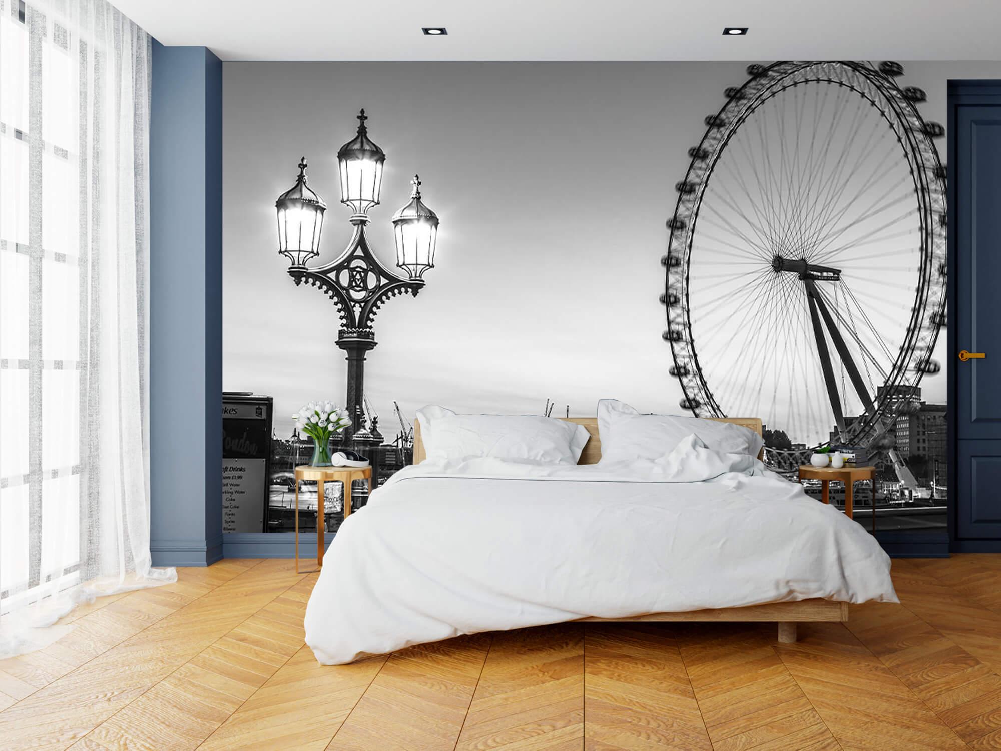 Ferris wheel black and white 13